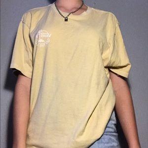 Men's Yellow Faded Vans T-shirt.